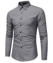0530B Dark Grey Formal Business Dress Office Shirt