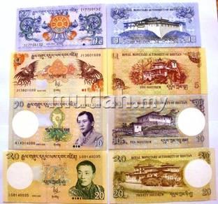 Bhutan 1 5 10 20 ngultrum 2006 4 pcs unc