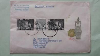 Antik Cover Penang Holland 1959 No 1125