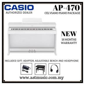 Casio Celviano ap-470 AP470 Digital Piano-WH