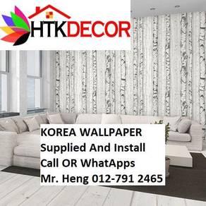 PVC Vinyl Wall paper with Expert Install 45A15BK