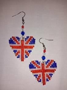 Handmade British Beaded Earrings Jewellery