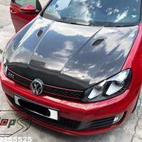 Volkswagen vw Golf mk6 carbon bonnet