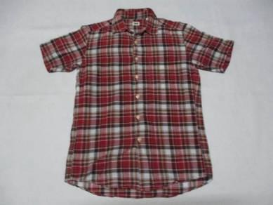 Uniqlo Checks Red Short Sleeve S (Kod LS3147)