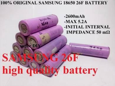 SAMSUNG ICR18650-26F 3.7V 2600mAh BATTERY 18650