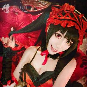 Date a alive Kurumi cosplay wig double ponytail