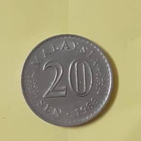 EEQ 20sen 1988 duit syiling 20 sen parlimen coin
