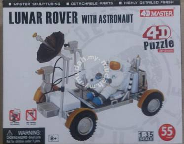 Space- 1/35 Lunar Rover with Astronaut 4D Puzzle