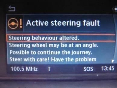 Active Steering Fault BMW E60 / E90