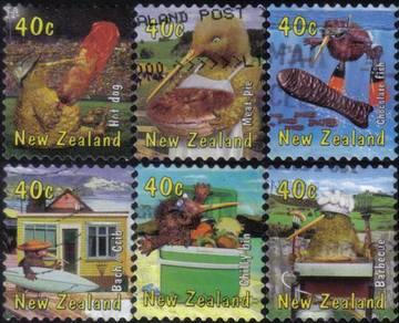 Kiwi Duck Bird Cartoon New Zealand Stamp Used