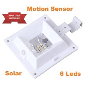 6 LED Solar Gutter Fence Lights PIR Motion Sensor