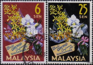 1963 4th World Orchid Conference Malaya Stamp