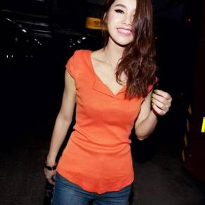 Casual Cotton Top - Orange