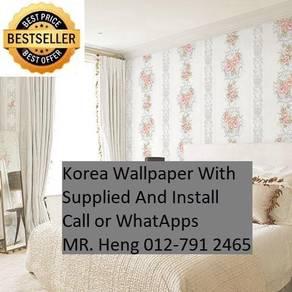 PVC Vinyl Wall paper with Expert Install 753J