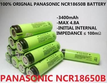 Panasonic NCR18650B 3.7V Battery 3400mAh 18650