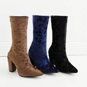 Black blue brown party heels boots 10cm RBH0175