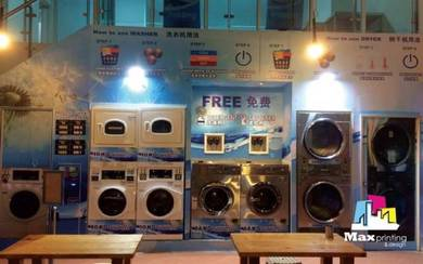 Sticker Printing Laundry Shop Free Design