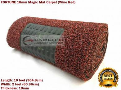 FORTUNE 18mm Magic Mat Carpet Wine Red OFFER
