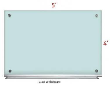 Glass White board 4'x5'~Siap Pasang Whiteboard