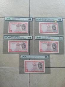 RM10 SA-PULOH Malaysia 1967 5 PCS CONSECUTIVE PMG