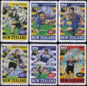 Rugby Games Sport New Zealand Stamp Used