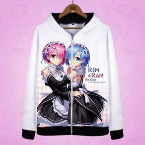 Anime RE:ZERO REM RAM hoodie Jacket