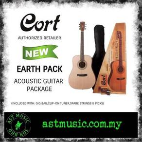 Cort Earth Pack Solid Top Acoustic Guitar Package