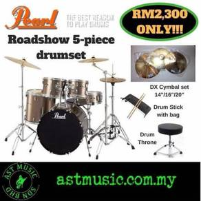 Pearl Roadshow Acoustic Drum with DX Cymbal Pack