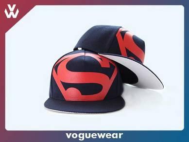 SUPERMAN Printed Flat Brim Cap [A16]