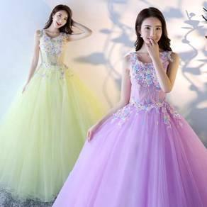 Purple yellow wedding bridal dress gown RB1275