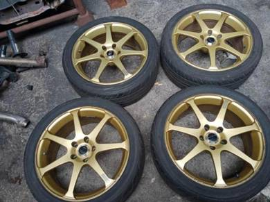 AVS Model 7 Wheels 114.3x5 18x7.5 +45 Ori Japan