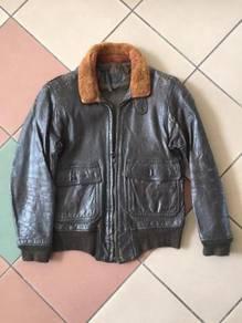 Vintage 1960 USN G-1 leather flight jacket conmar