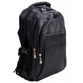 Laptop Bag All Black sulam Logo dan Tulisan