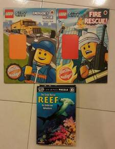 Lego English children activity book puzzle reef