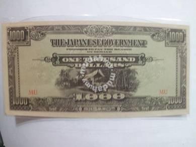 JIM Duit Lama Jepun Malaya 1000 Dollars