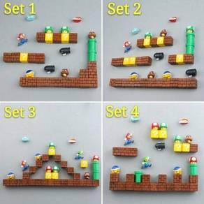 Mini Super Mario Fridge Magnet Set