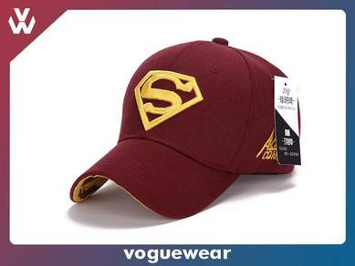 SUPERMAN Embroided Cotton Curved Brim Cap [A16]