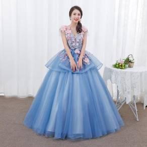Blue flower wedding bridal dress gown RB1272
