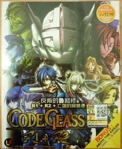 DVD ANIME Code Geass Season 1-2 + Akito The Exiled