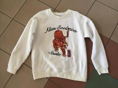 Jacket sweater sukajan harimau sulam nike adidas