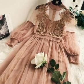 Blue black white pink nude dress RBP0629