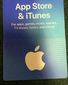 Brand new singapore itunes card value of 100sd