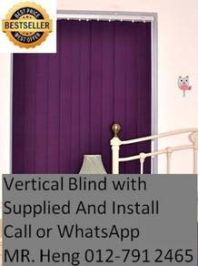 Modern Office Vertical Blind with Install 334qg