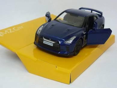 Nissan SKYLINE GTR R35 1/36 blue w black rims