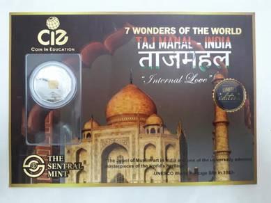 7 Keajaiban Dunia - Taj Mahal Bimetal Coin
