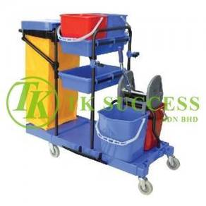 Multifunction Janitor Cart with Double Wringer