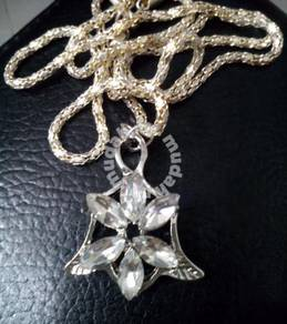 ABPSM-A010 Silver Arwen Evenstar Crystal Necklace