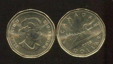Canada 2005 loonie one dollar duck coin unc