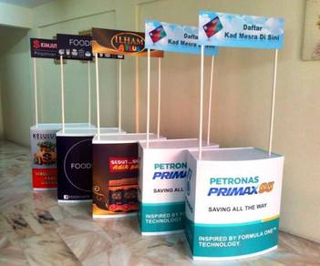 Portable PVC Kaunter Sampling Booth Counter