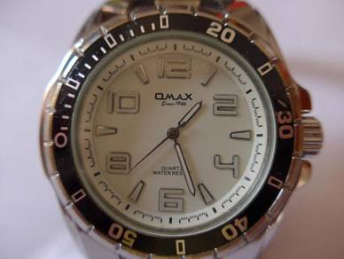 Omax Quartz Large Round White Dial Watch